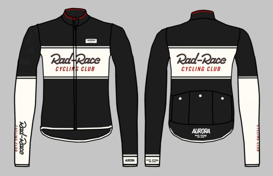 "The new RAD RACE x AURORA Cycling Jersey ""Cycling Club""!"