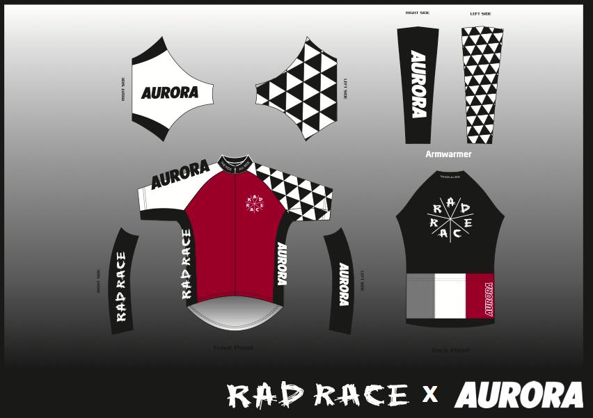 The RAD RACE x AURORA FAREWELL CYCLING JERSEY