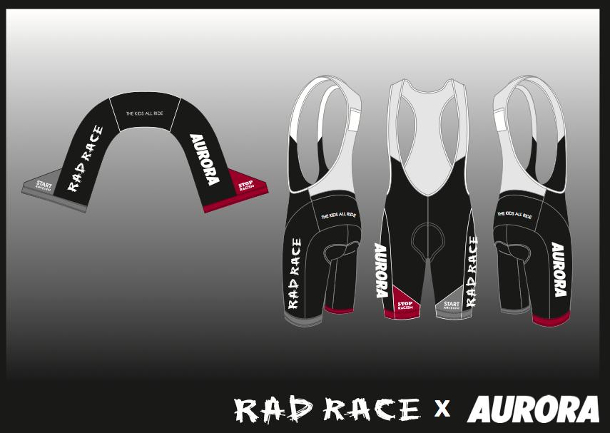 The RAD RACE x AURORA Farewell Cycling Bib shorts