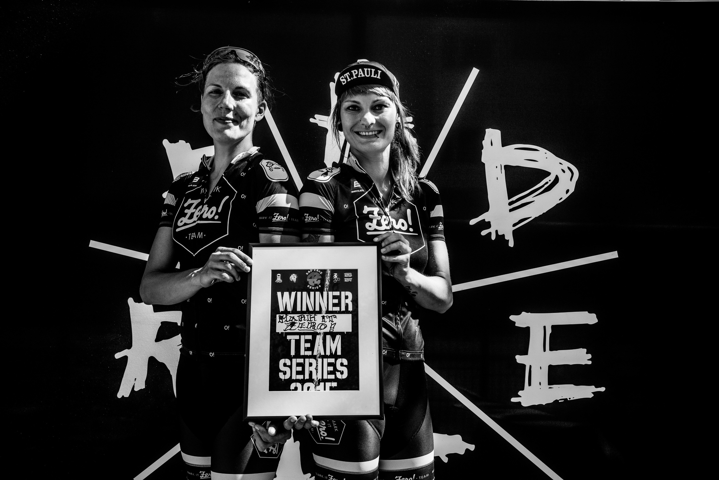 The best team 2015 of the rad race series. johanna jahnke & silja ketelsen from mark it zero! shot by drew kaplan.