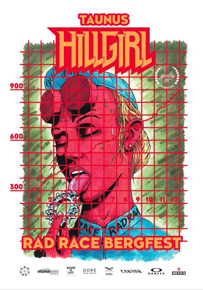 THE OFFICIAL RAD RACE HILLGIRL POSTER MADE BY Krock, Kneip & Rother
