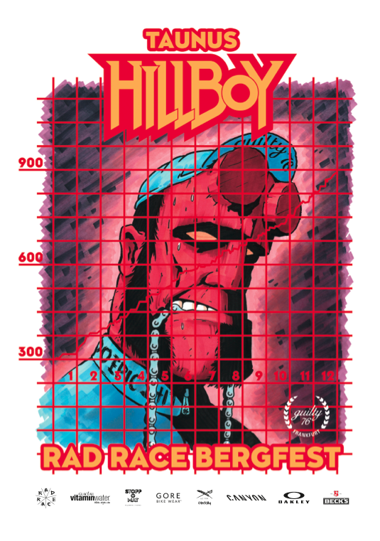 THE OFFICIAL RAD RACE HILLBOY POSTER MADE BY Krock, Kneip & Rother