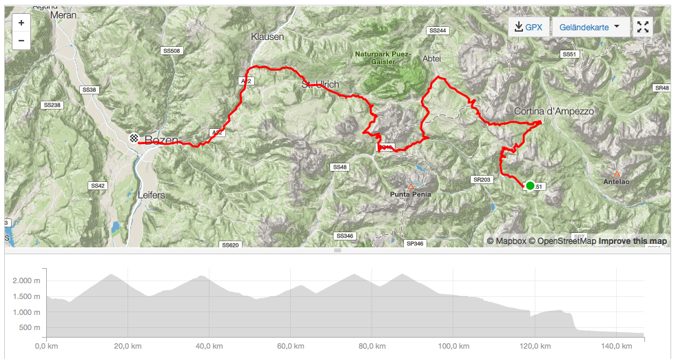 THE STRAVA TRACK OF DAY 7.