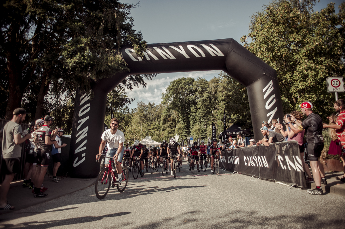 Start at the RAD RACE BERGFEST. Pic by Nils Laengner