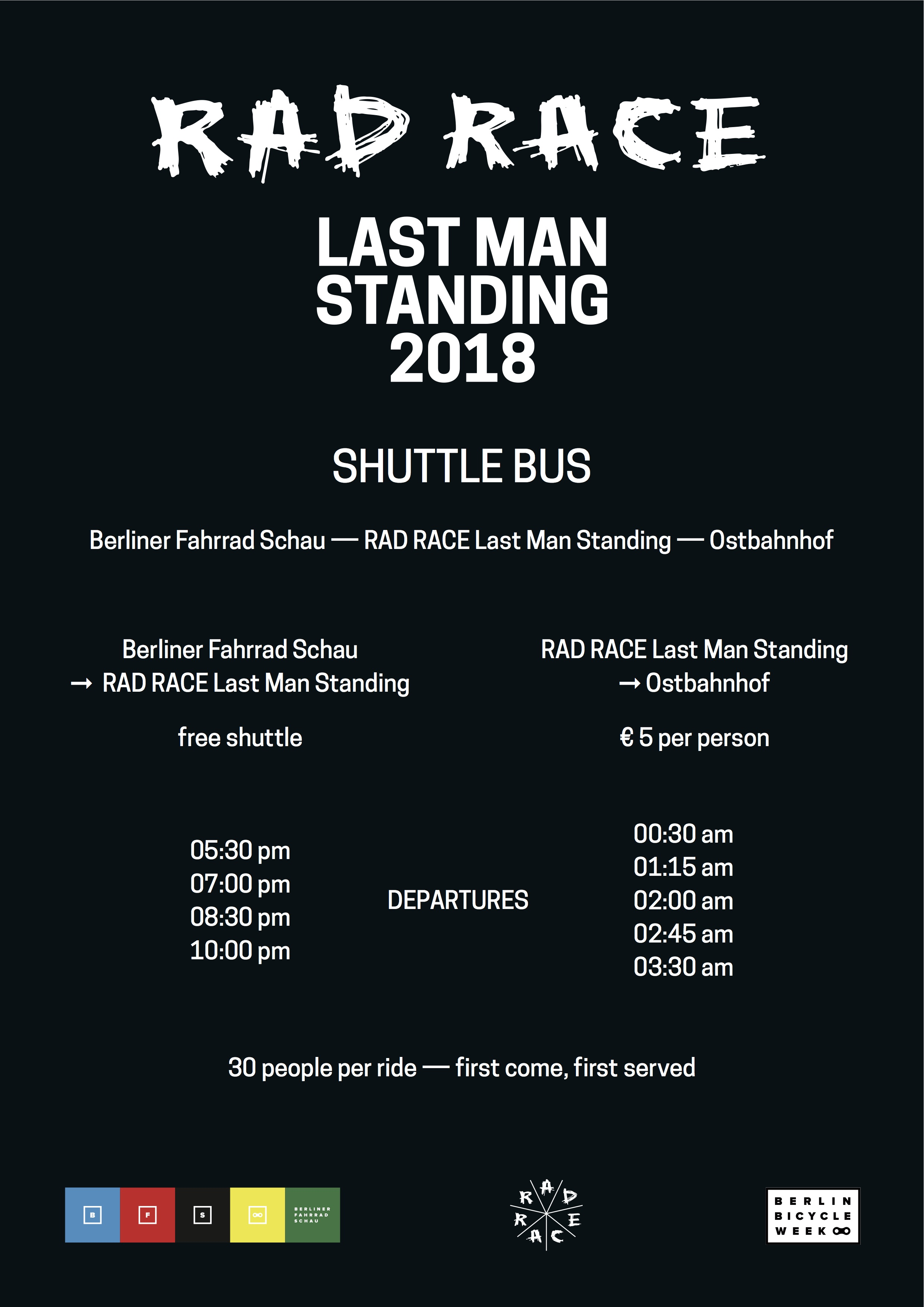 rad race bus shuttle berlin 2018