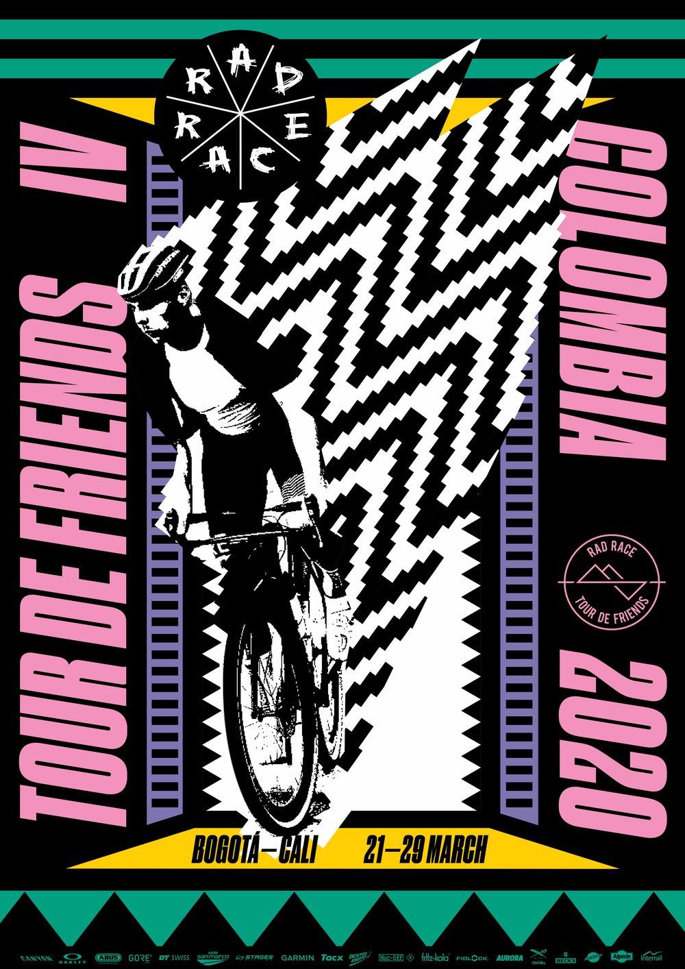 RAD RACE tour de friends official poster