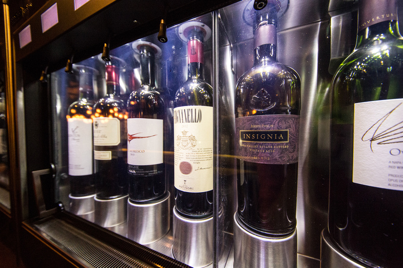 Tutoni's self-serve wine system offers the perfect chance to test our your wine-tasting skills.