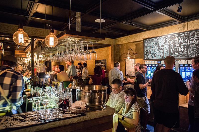 The TT Bar - Full service bar featuring Italian focused scratch cocktails using housemade ingredients and a 32 bottle self-serve wine tasting system (a great interactive activity). Can be rented out for private parties, cocktail hours, and other casual gatherings.