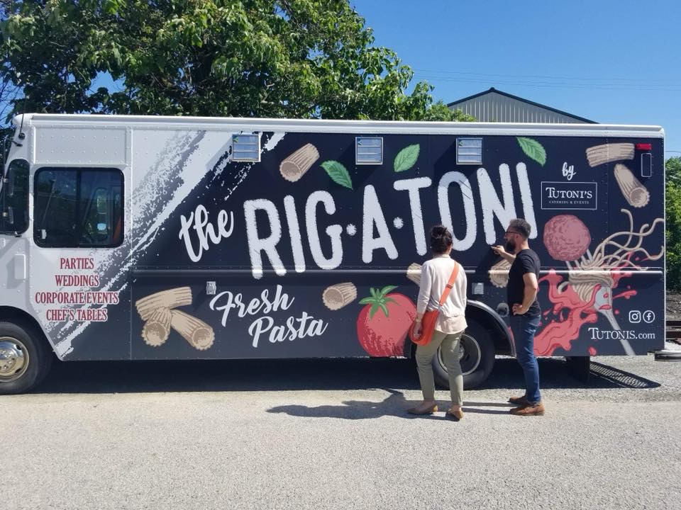 Rig-a-Toni Truck - Looking for a fun addition to your event? Look no further than our new food truck! This kitchen on wheels can pull up to your next event to give your guests exactly what they want & need for their bellies. Email us today to book this beautiful truck for your event!