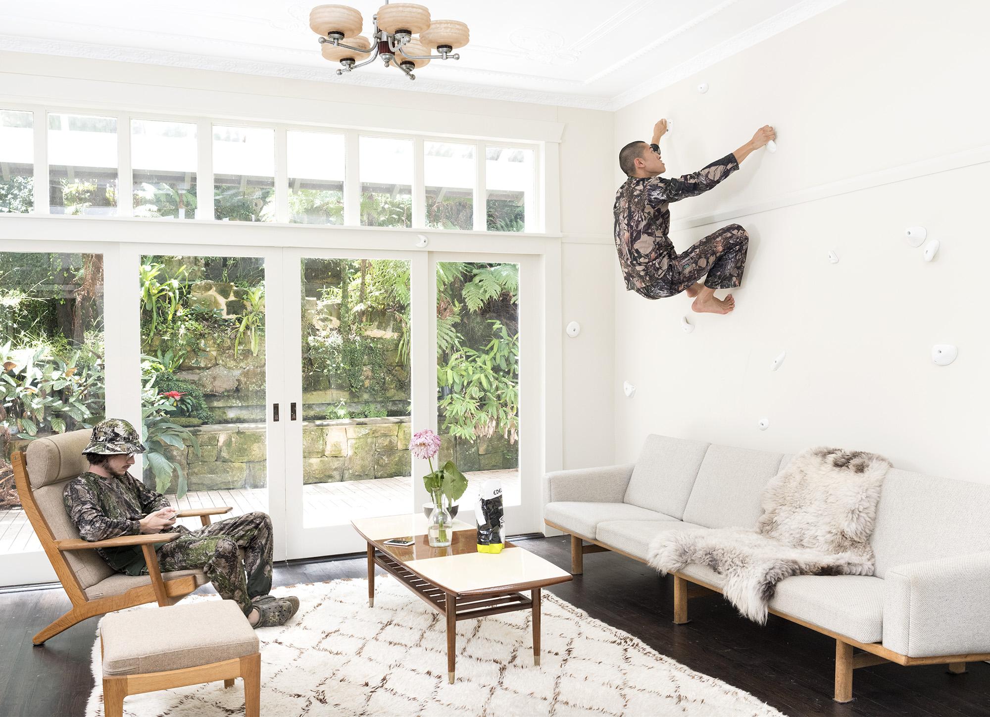 'Living room,' 2019, inkjet print on cotton rag, 110 x 152 cm