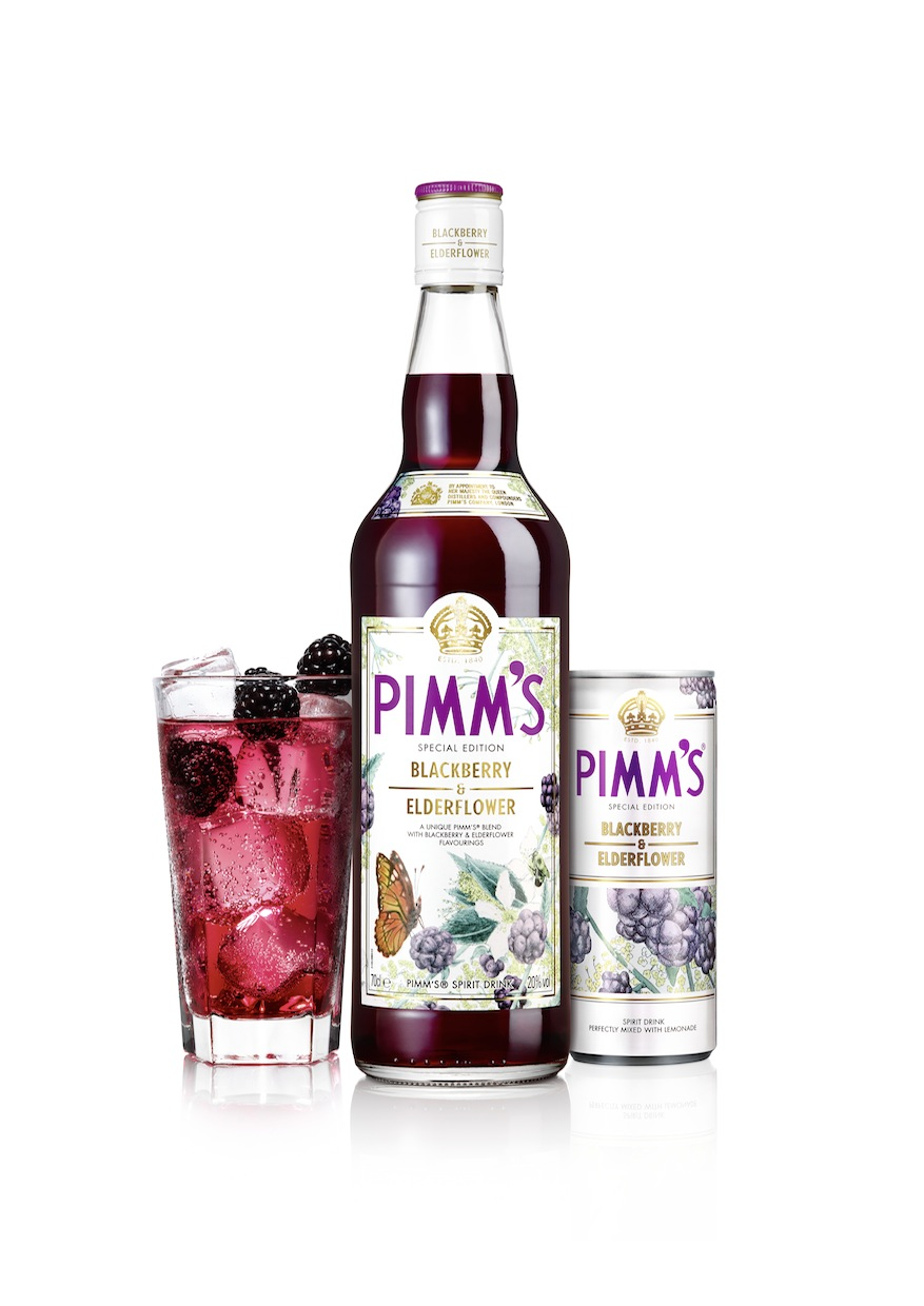 Special Edition Pimm's Blackberry and Elderflower Bottle 70cl Can and Serve with Blackberry Garnish 2013.jpg