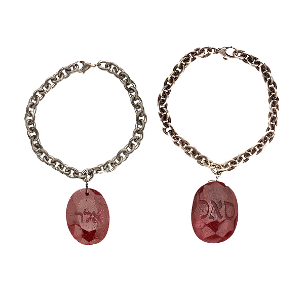 "Rubies on sterling silver chain bracelets, ""Protection Against Evil Eye"", ""Prosperity"""