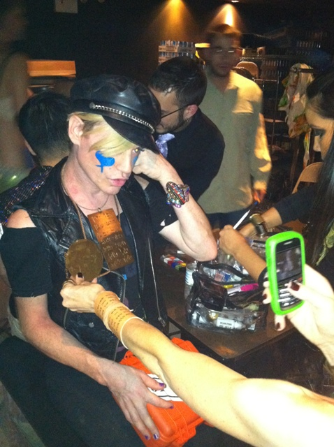 September 16, 2011: Richie Rich wearing Ana Bekoach breastplate at One Oak fashion show