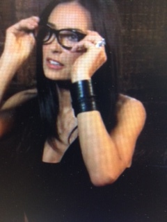 April 2011:  Demi Moore in Rachel Brown 72 Names of God leather wrap cuff