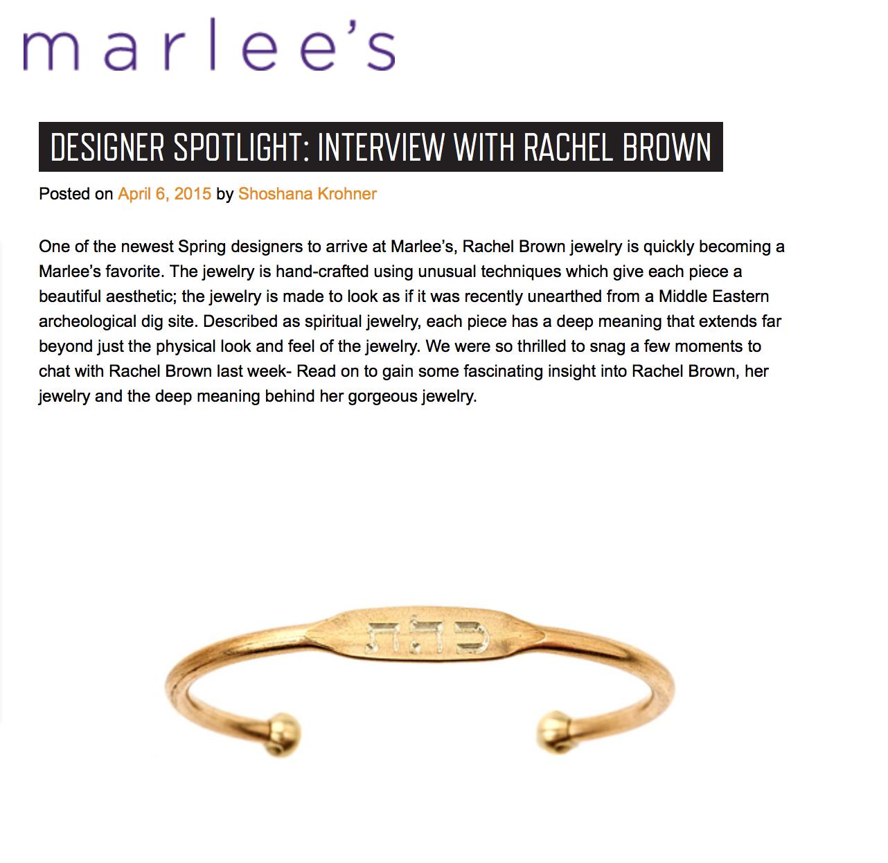 Designer Spotlight: Interview with Rachel Brown