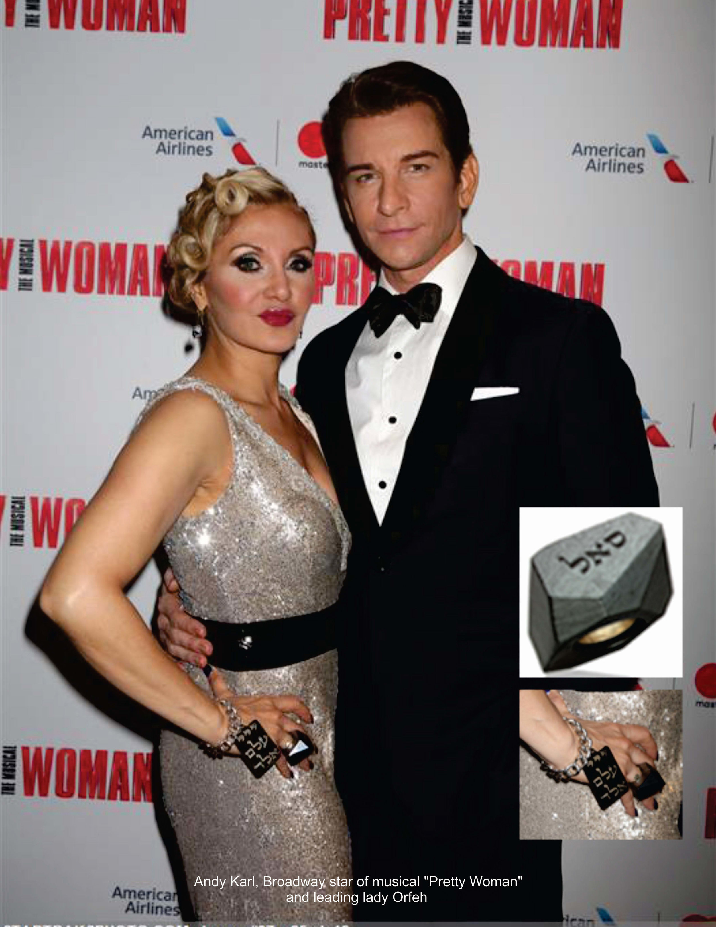 Broadway leading actors Andy Karl and Orfeh