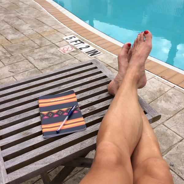 Här är mina fötter igen. Men kolla in träningsdagboken som jag ännu är flitig i!