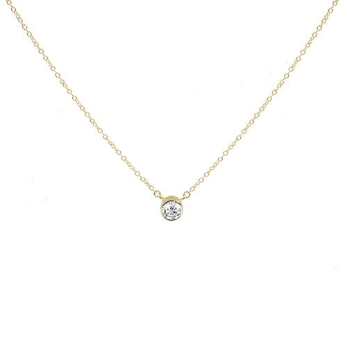 The Solitaire Bezel Choker by The M Jewelers Ny