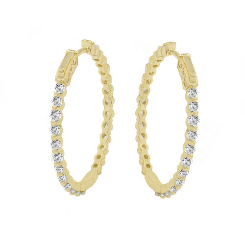 The Prong Hoops by The M Jewelers Ny