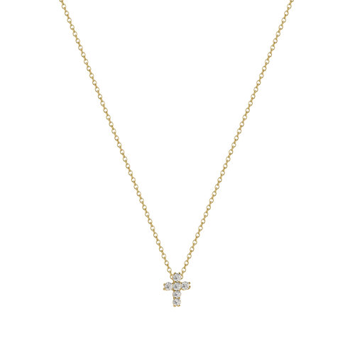 The Tiny Crystal Cross by The M Jewelers Ny
