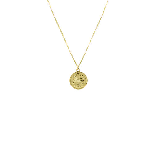 The Zodiac Medal Necklace by The M Jewelers Ny