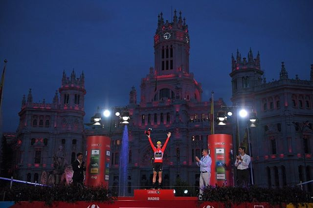 Still sinking in!!!!! Massive thanks to the whole @mitchelton_scott team, riders and staff, it would never have been possible without them. NEVER STOP BELIEVING!! 🔴🔴🔴🔴🔴🔴🔴🔴 @lavuelta