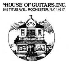 House of Guitars is a music store located in Irondequoit. Renowned for its wide selection of instruments, music, and equipment, the House of Guitars is a Rochester landmark. Visit their  website  for more information.