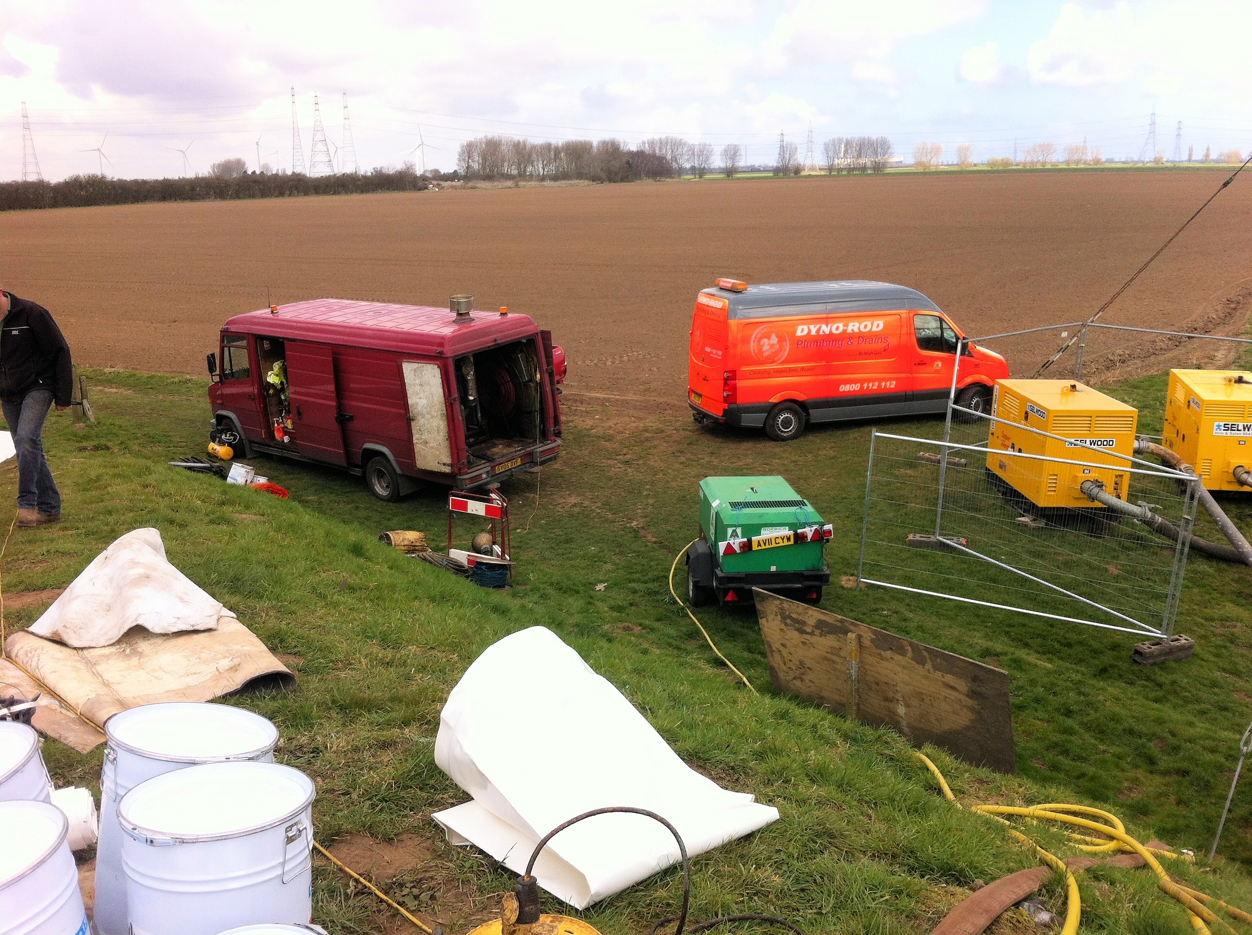 The syphon lining site near Kings Lynn