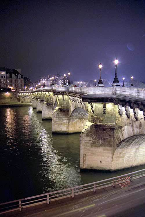 Point Neuf in Paris at night was the beginning of new journey in life.