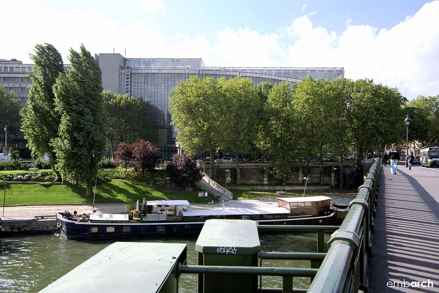 Arab World Institute - view from the River Seine