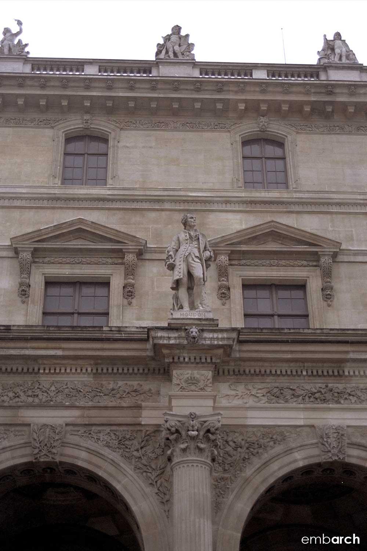 Louvre - exterior courtyard detail