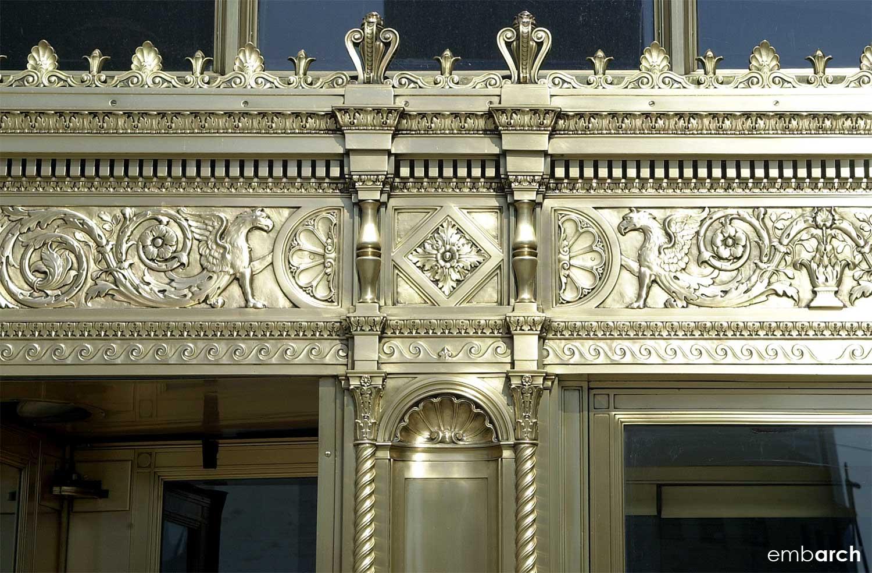 Wrigley Building - entry metal work detail