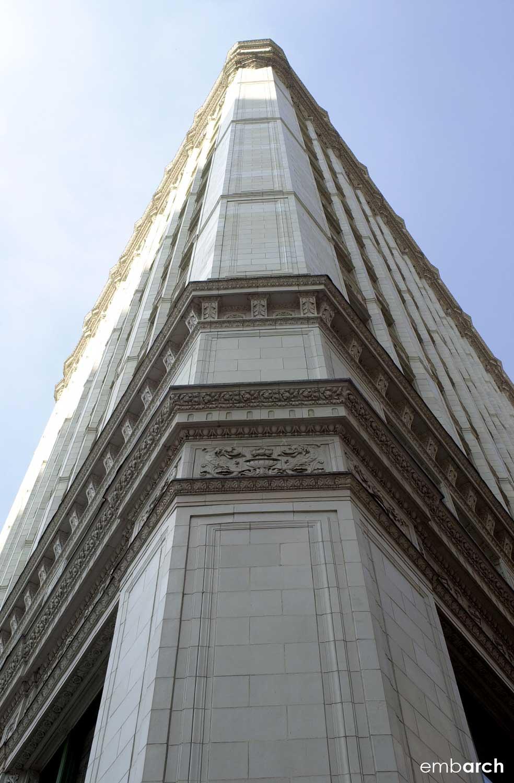 Wrigley Building - exterior corner detail