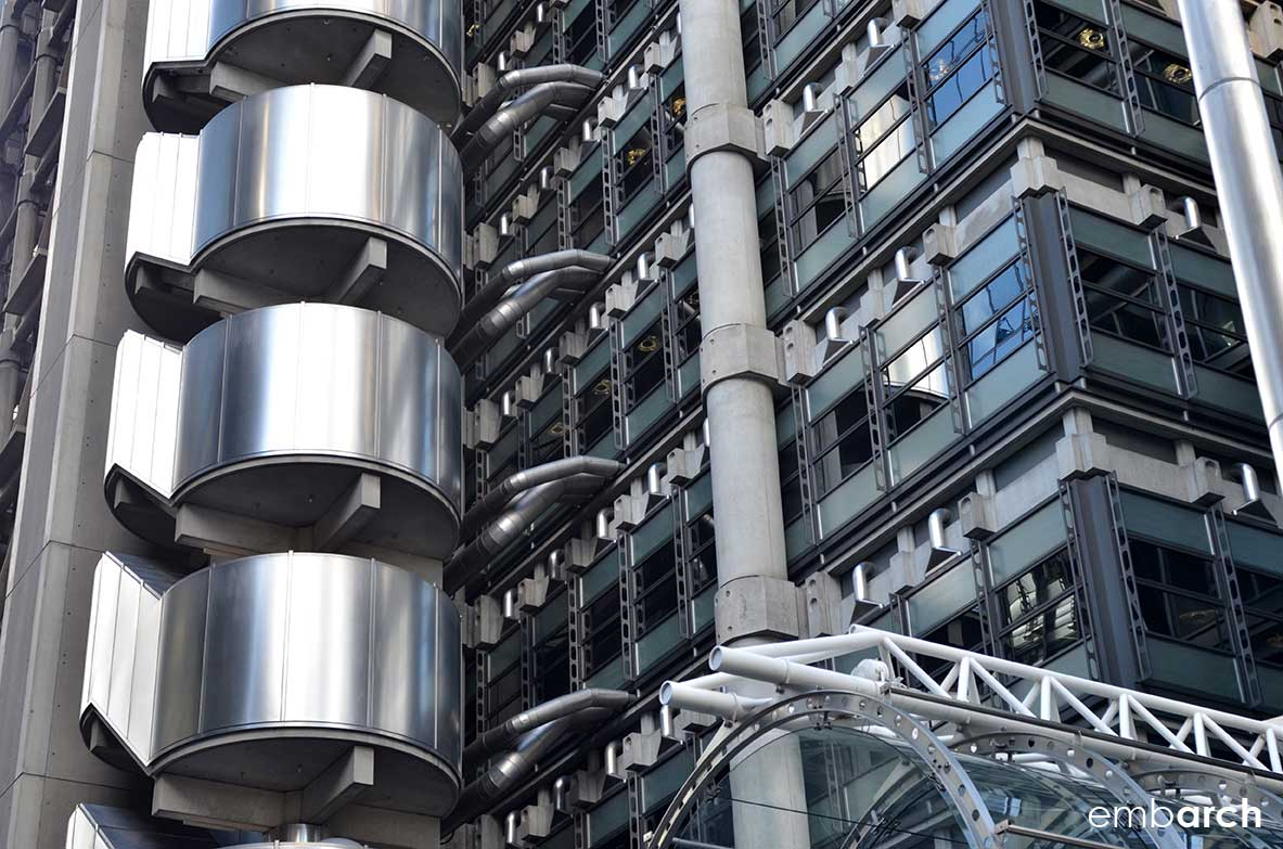 Lloyds of London - facade detail