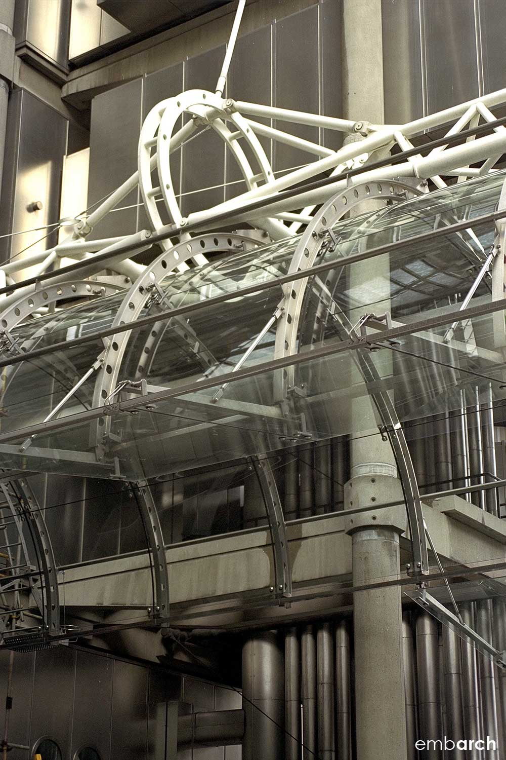 Lloyds of London - entry canopy detail
