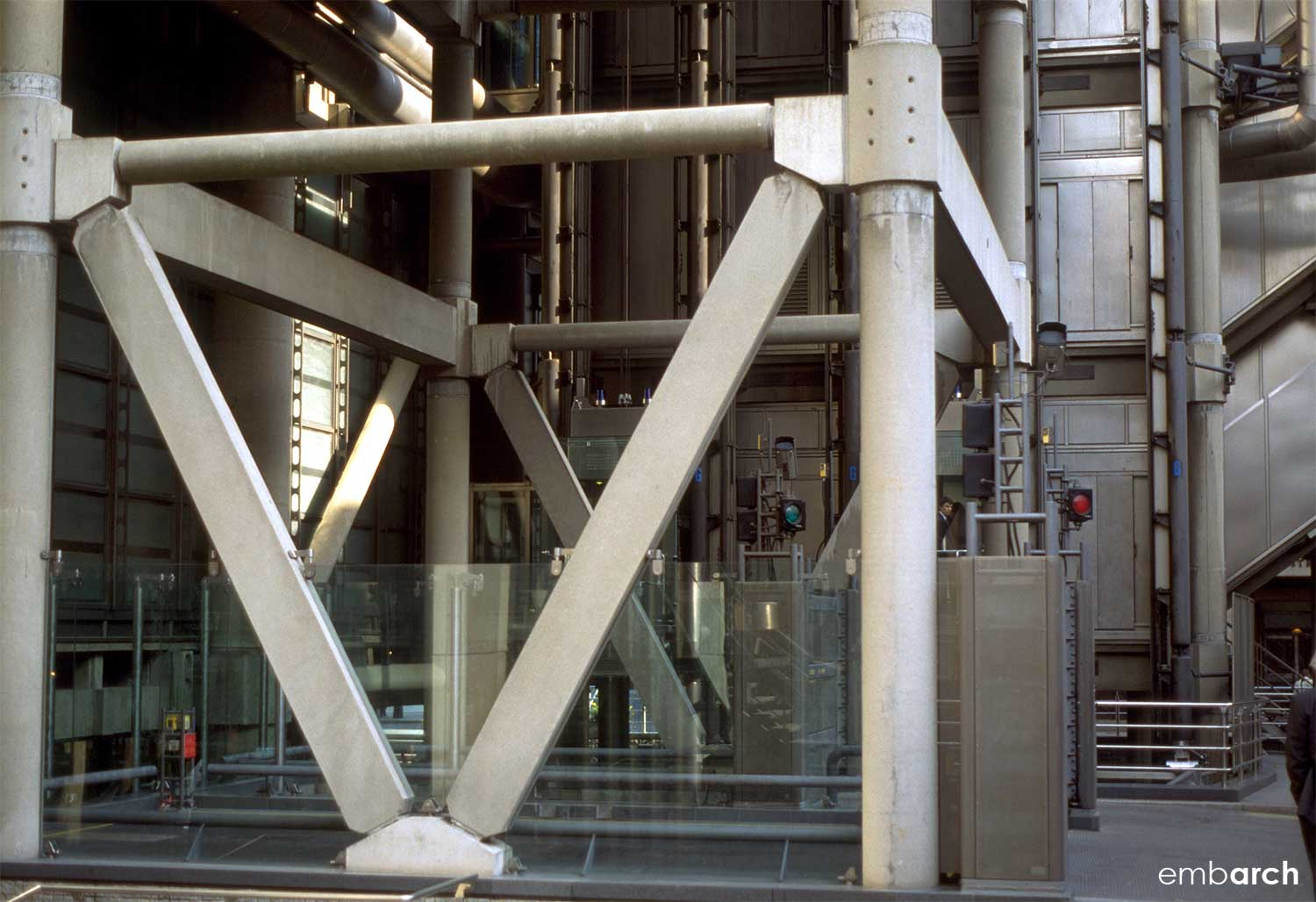 Lloyds of London - exterior structural detail