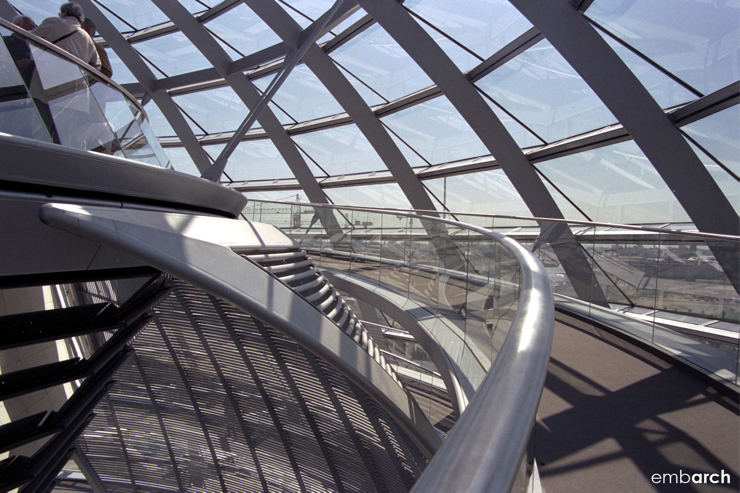 Reichstag Building - dome interior walkway