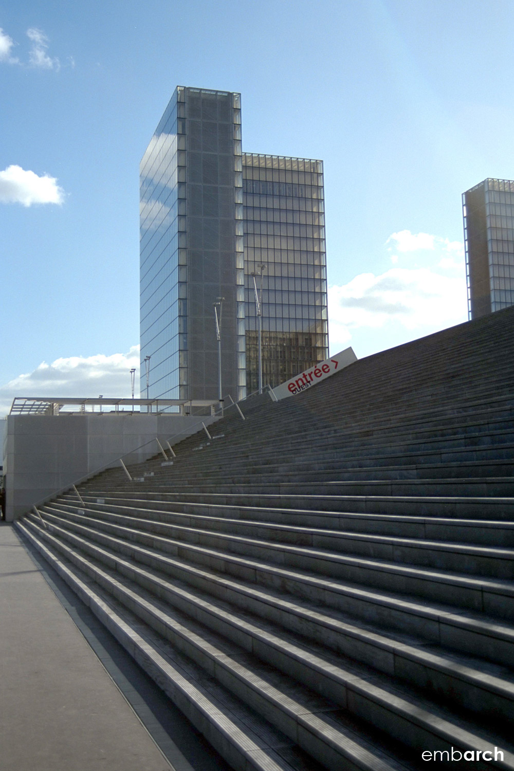 Bibliotheque Nationale - exterior steps