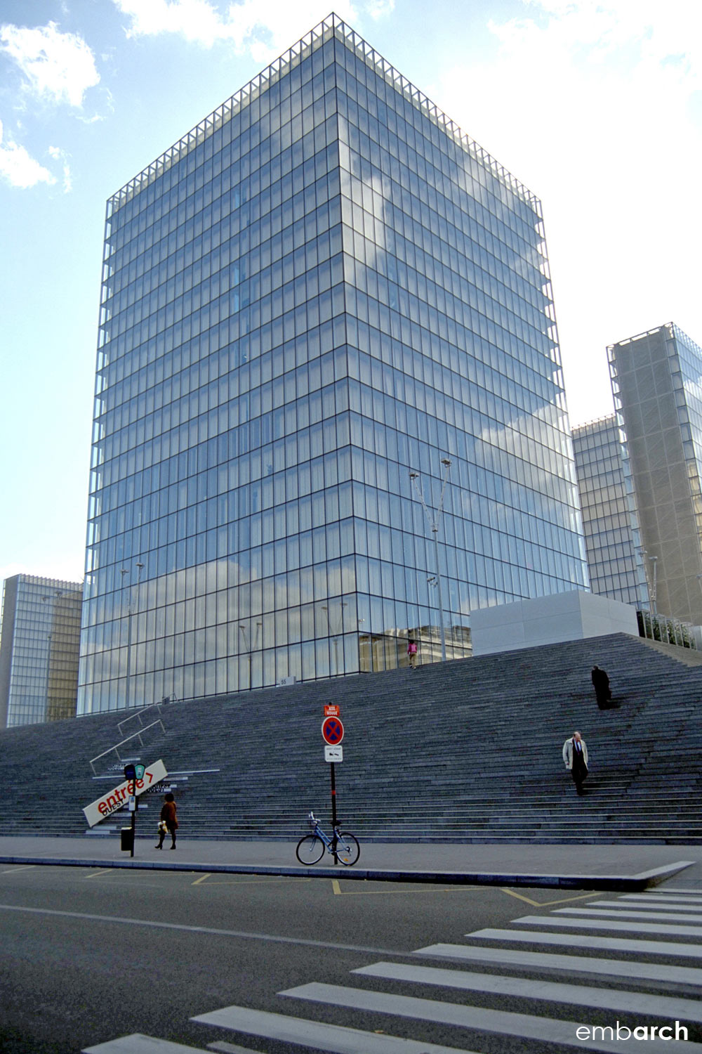 Bibliotheque Nationale - tower exterior