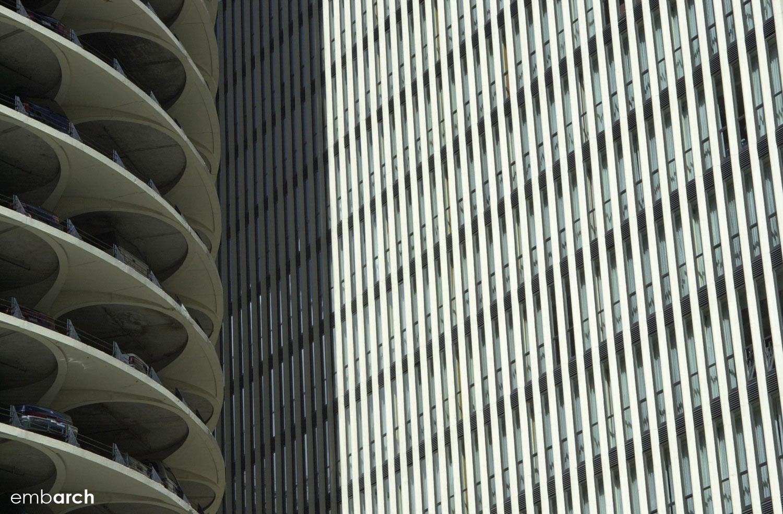 Marina City Towers - exterior detail