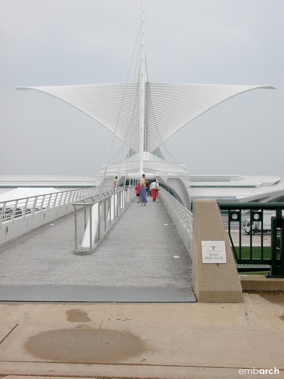 Quadracci Pavilion at the Milwaukee Art Museum - entry bridge
