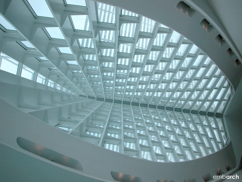 Quadracci Pavilion at the Milwaukee Art Museum - interior detail