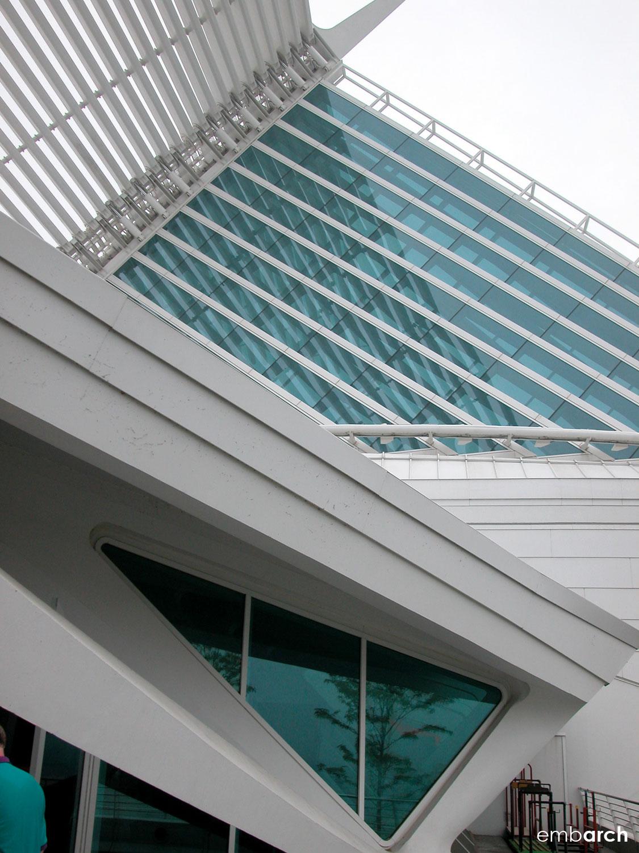 Quadracci Pavilion at the Milwaukee Art Museum - exterior detail