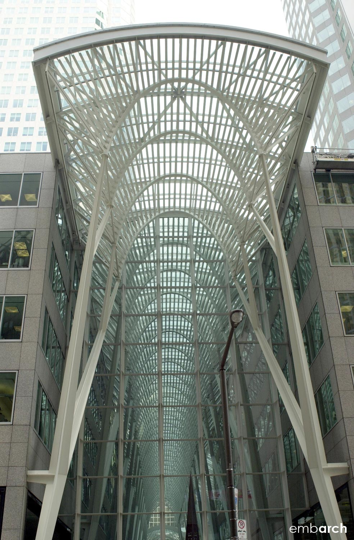Allen Lambert Galleria - exterior entry canopy