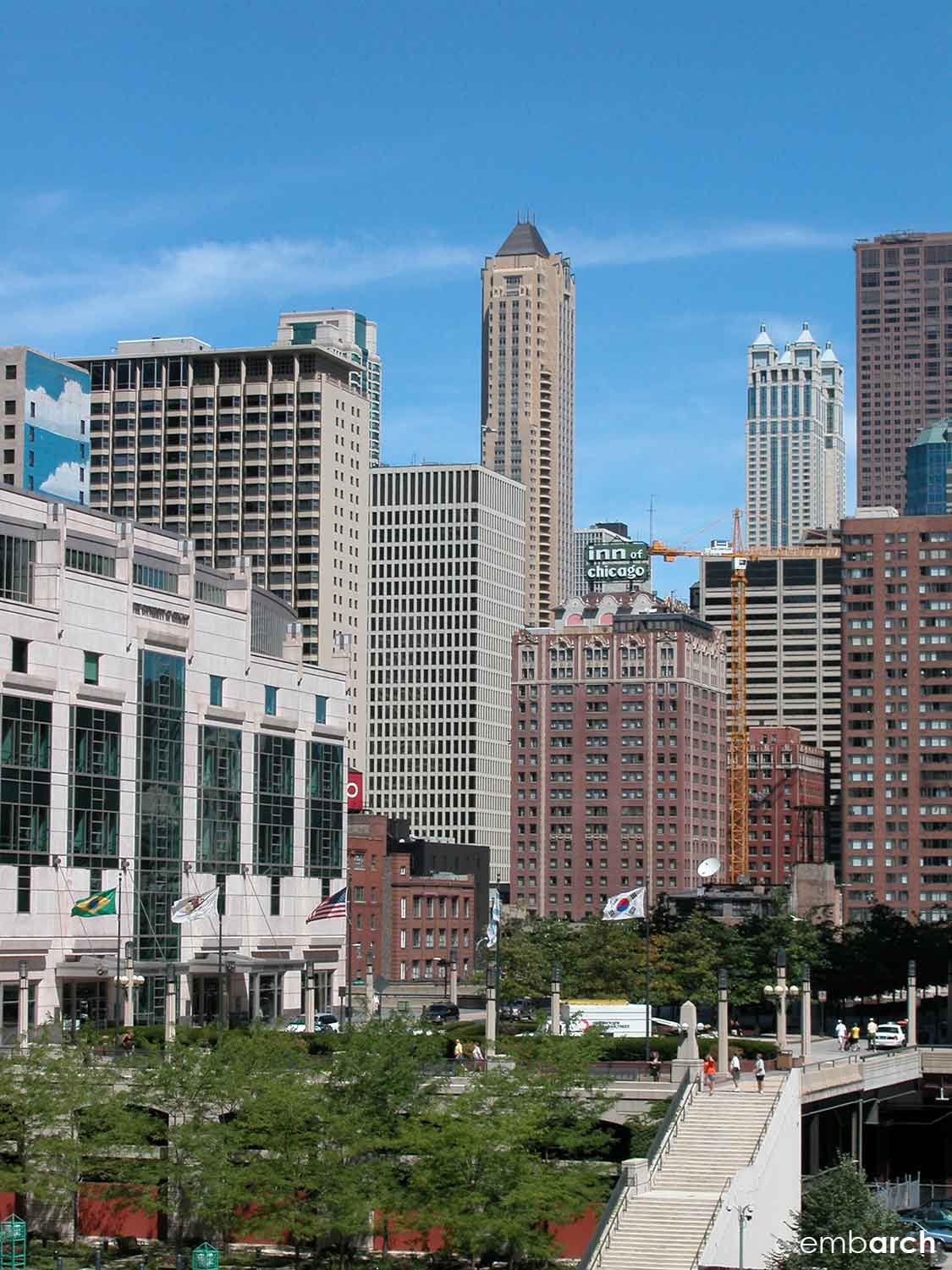 A view of Streeterville from the Chicago River.
