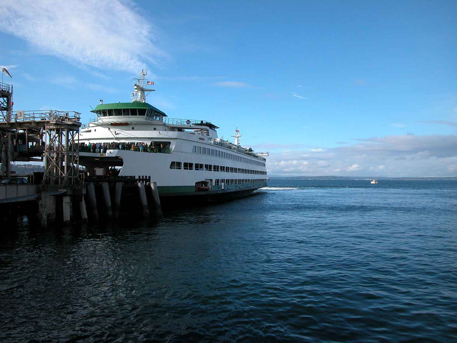 A ferry on the Puget Sound.