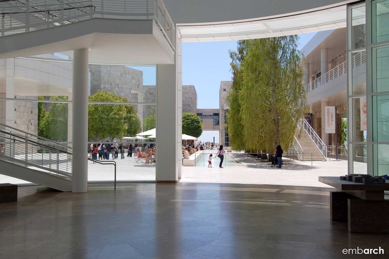 Getty Center - interior view of pavilion