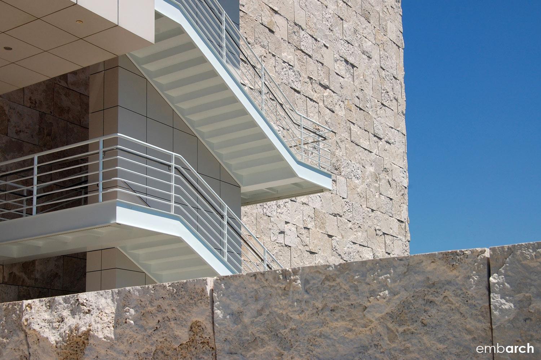 Getty Center - exterior stair detail