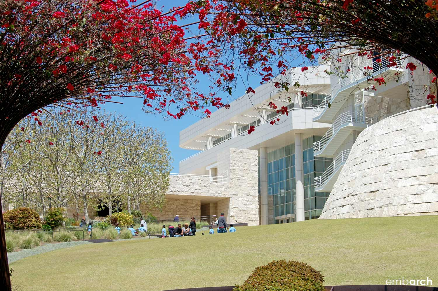 Getty Center - exterior view from lawn