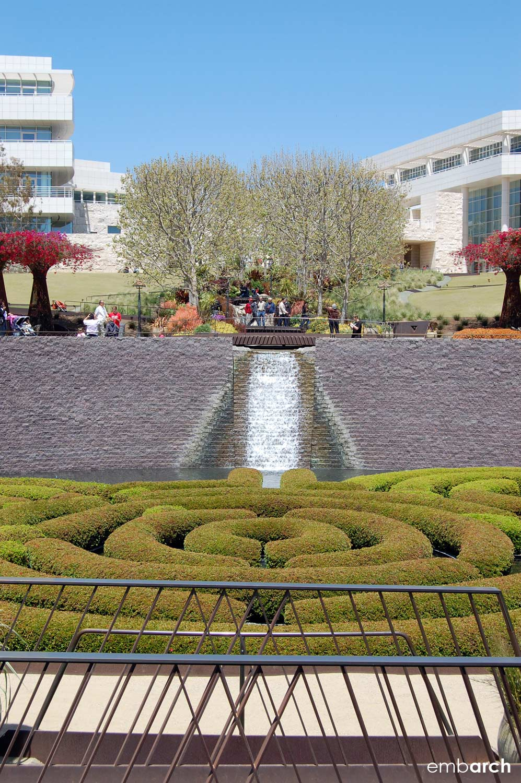 Getty Center - exterior view of gardens